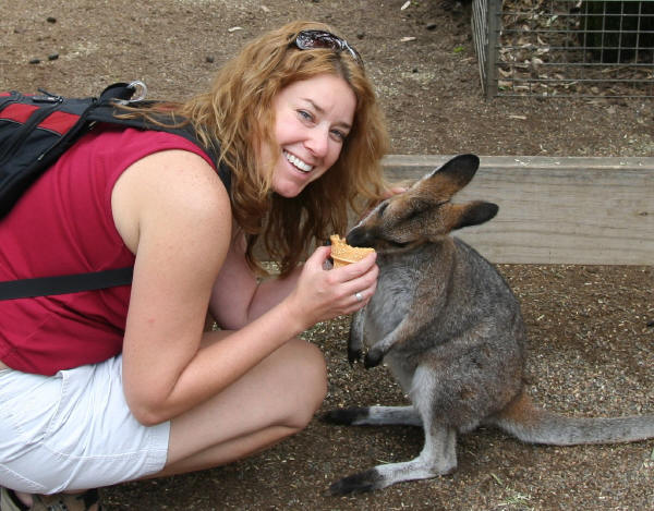 Me and my wallaby pal