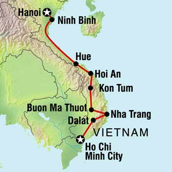 vietnam map 'Petal' Power