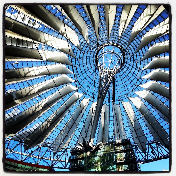 Helmut Jahn s Sony Center roof in Potsdamer Platz.  gwolocal March 25  2013 at 0230PM Getting Local in Berlin