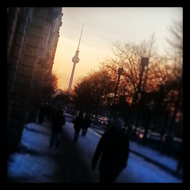 Sunset over Frankfurter Allee in Berlin.  gwolocal March 19  2013 at 0319PM Getting Local in Berlin