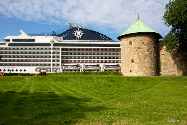 Oslo Cruise Ship & Castle