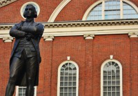 Statue of Samuel Adams on The Freedom Trail because before he was the mascot for a famous brewery he was an American Revolutionary.