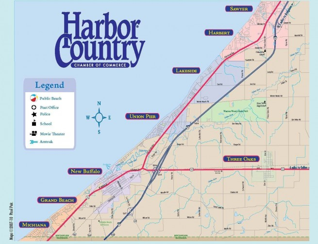Bikes Harbor Country New Buffalo Mi Harbor Country Map x