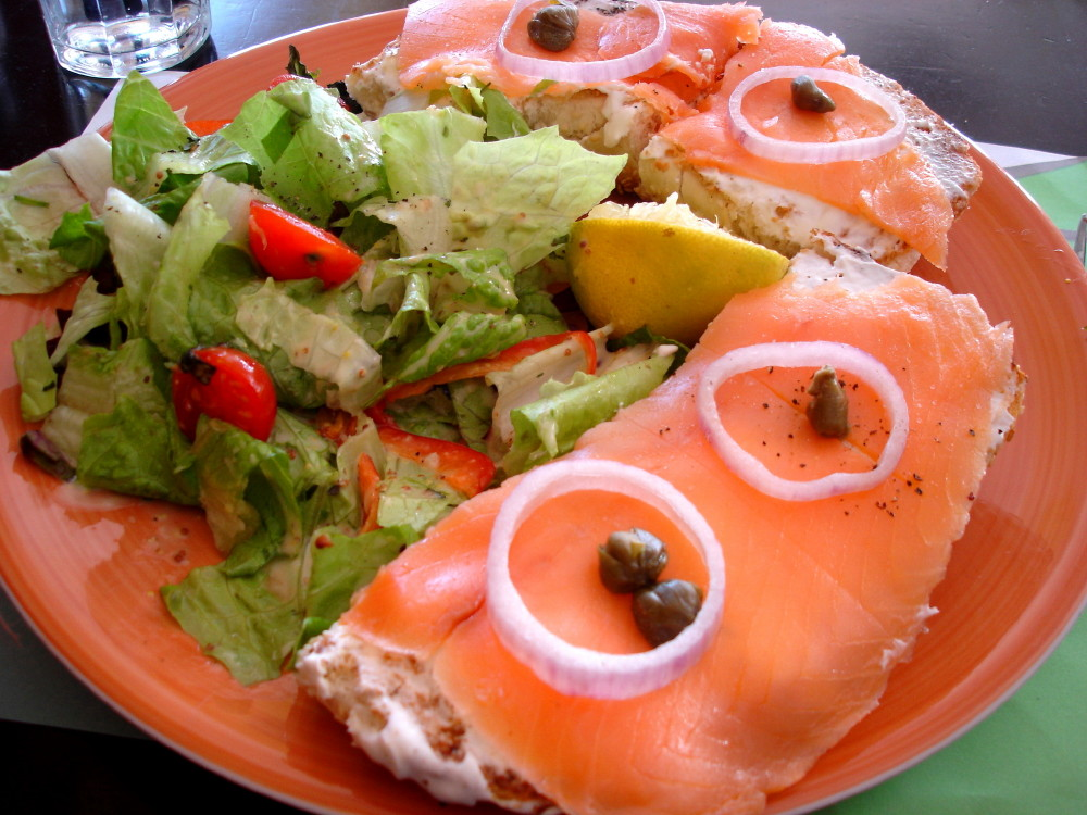Mmm...Bagel, Cream Cheese, & Lox