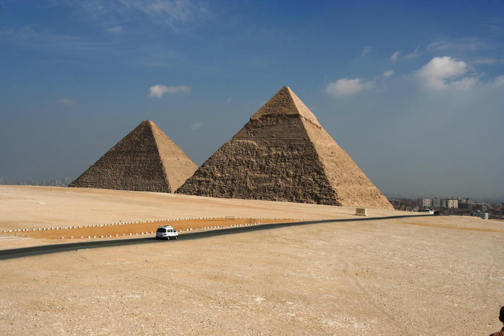 Pyramids just outside Cairo