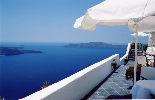 Balcony of my hotel in Santorini