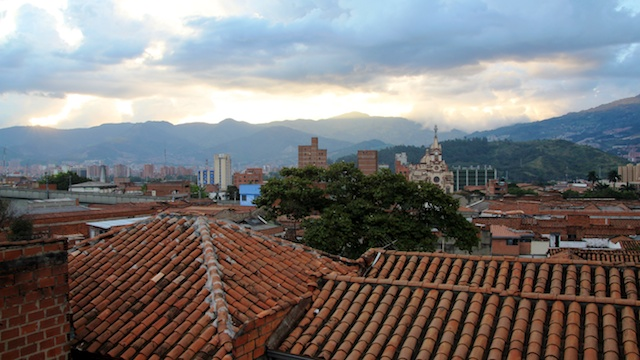 Sunset in Medellin