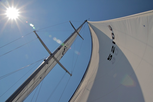 Sailing on Lake michigan