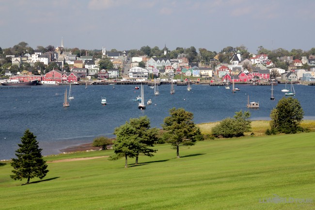 View of Lunenburg from Bluenose Golf Club