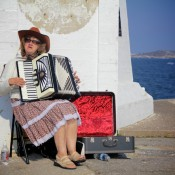 Peggys Cove Accordian Lady