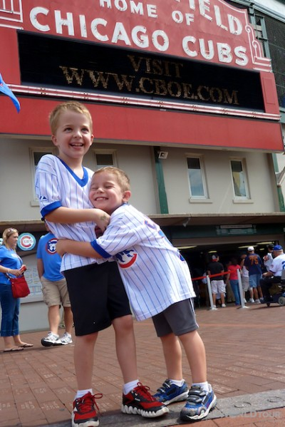 Kids at Wrigley Field Chicago