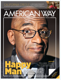 Amer Way Cover Feb 2012 Published Writing & Media Coverage