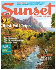 Sunset Cover Oct 2008 Published Writing & Media Coverage