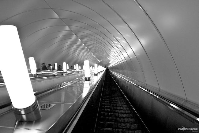 Escalator St Petersburg Metro