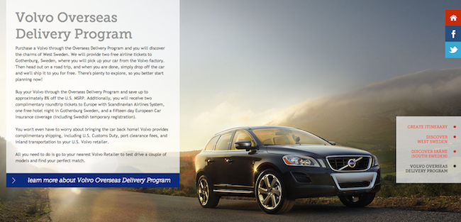 Volvo Overseas Delivery Program