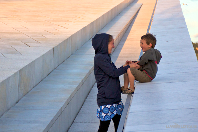 Fun on Oslo's Opera Roof