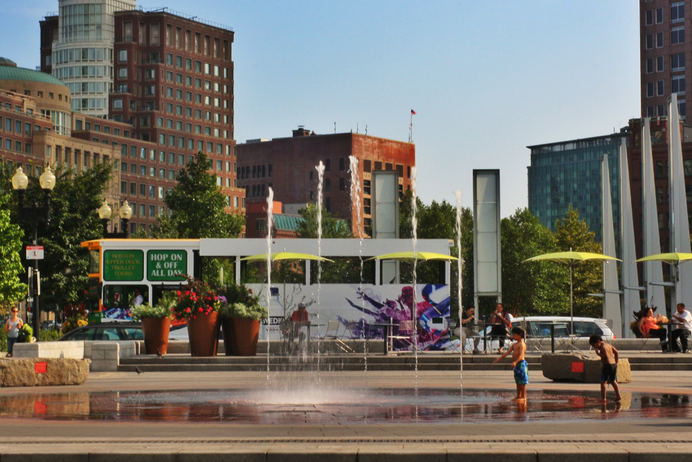 I've played in that fountain, but I've never been on a hop on hop off bus tour.