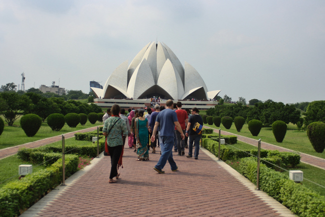 The Lotus Temple in northwest India