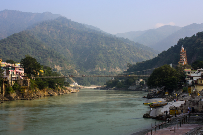 Rishikesh in the states of northwest india