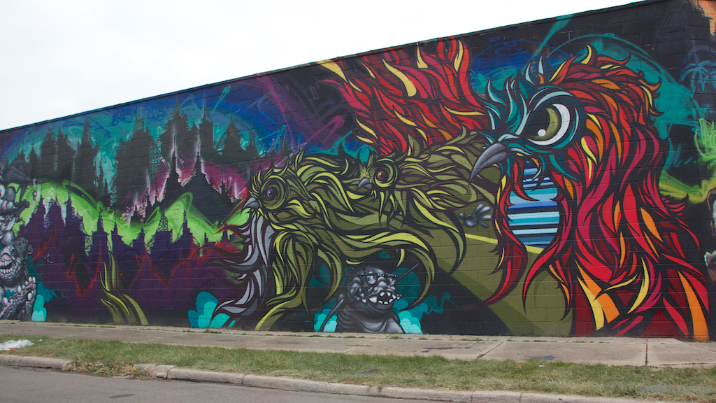 Murals in Grand River Creative Corridor