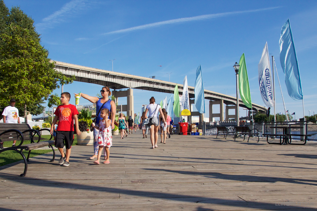 Buffalo Canalside Boardwalk
