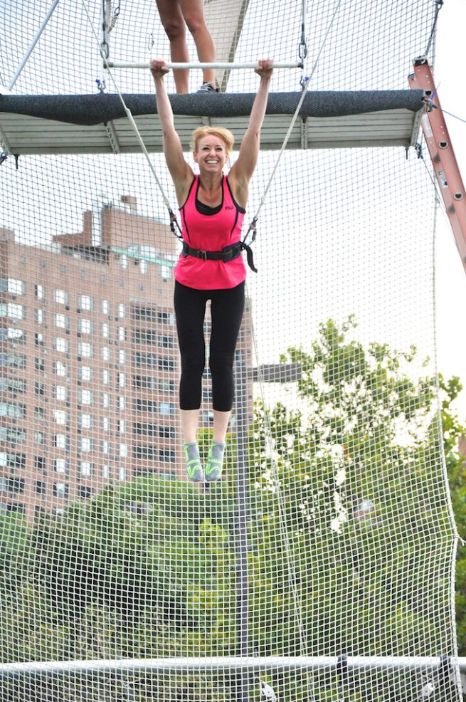 Lisa Lubin on Trapeze