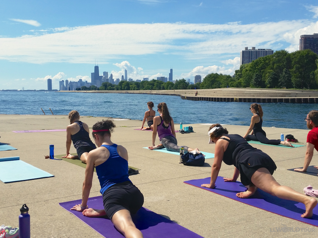 Free Yoga on the Lakefront at Belmont Harbor