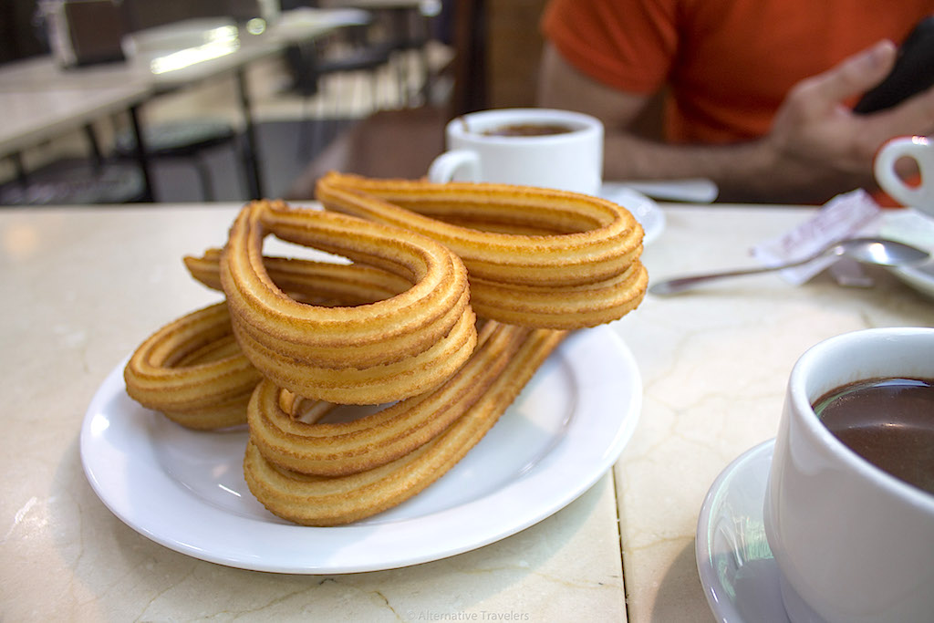 Madrid - churros con chocolate
