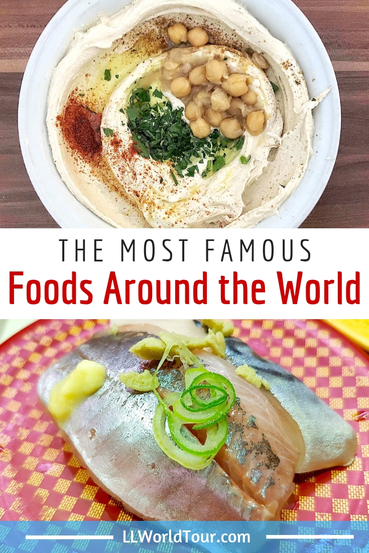 Most famous food of different countries