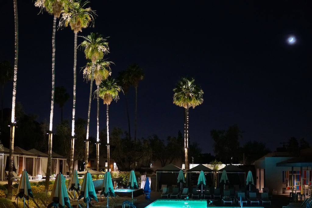 Andaz night pool