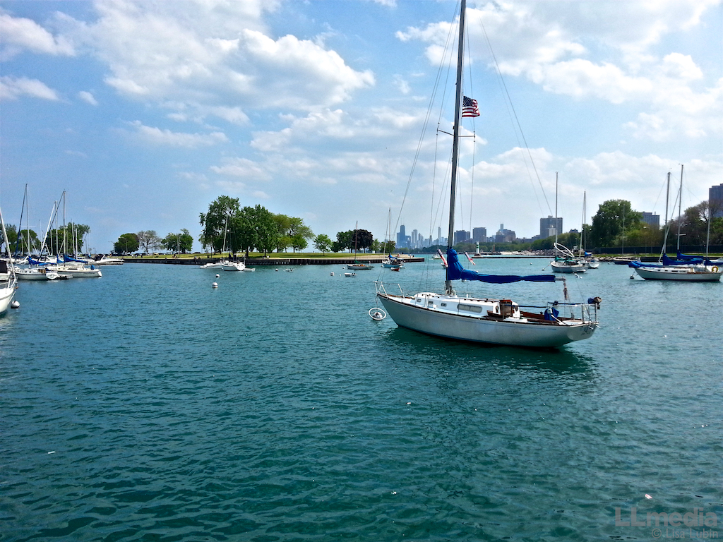 Boating on Chicago's Lake Michigan