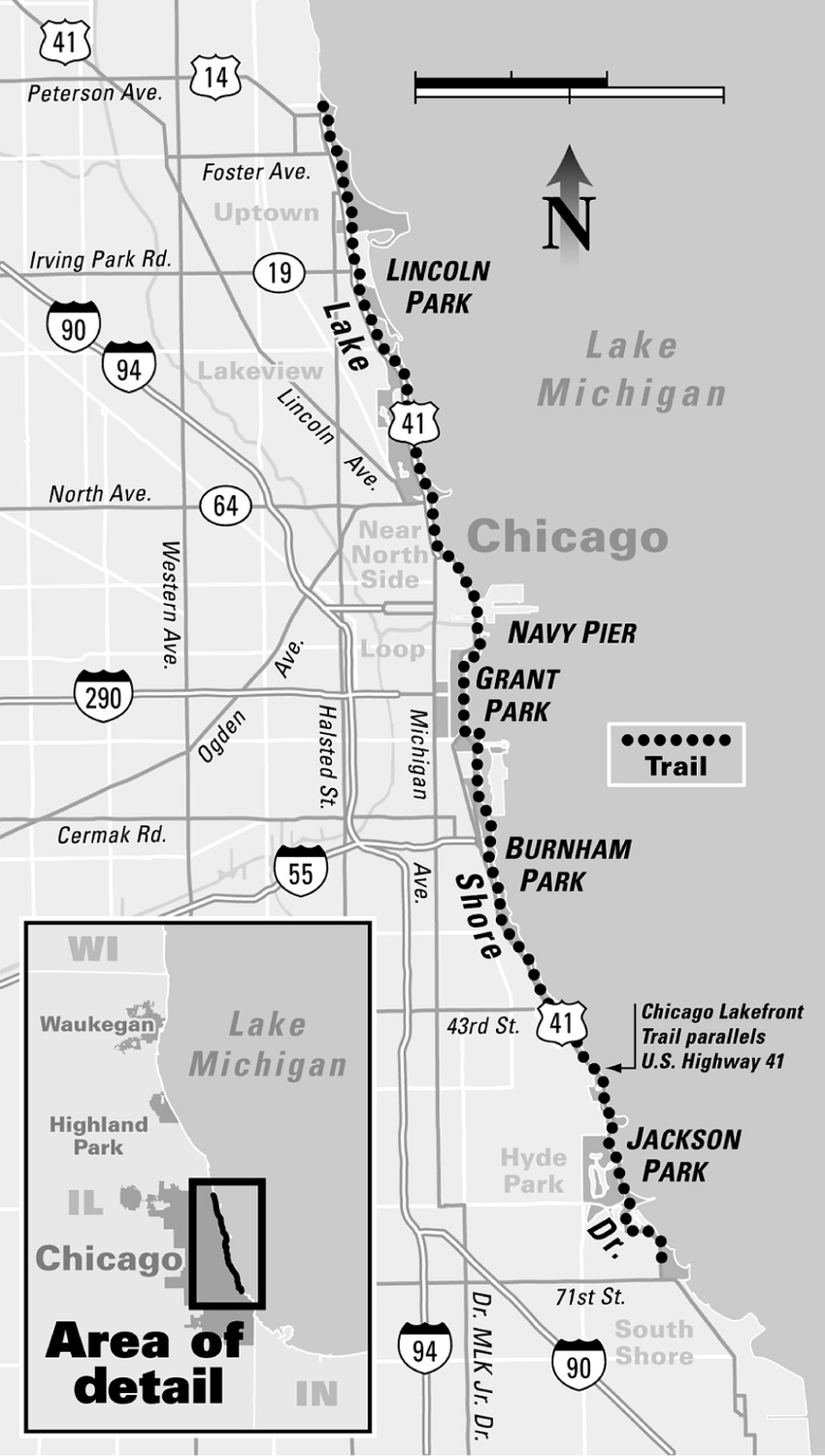 Chicago-Lakefront-Trail-map