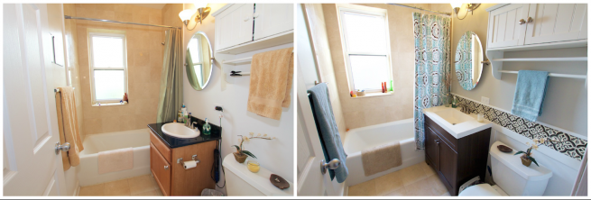 Bathroom Before: + After