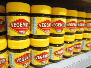 Vegemite at supermarket counter